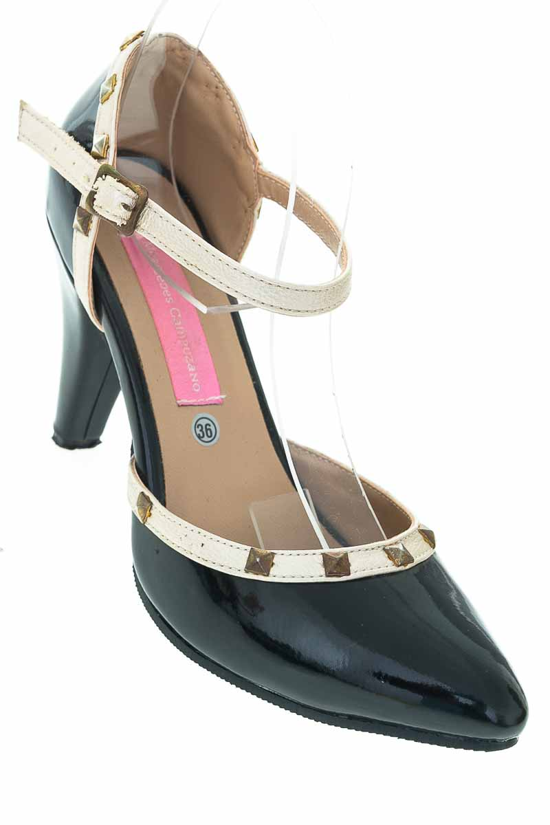 Zapatos Tacón color Negro - Mercedes Campuzano