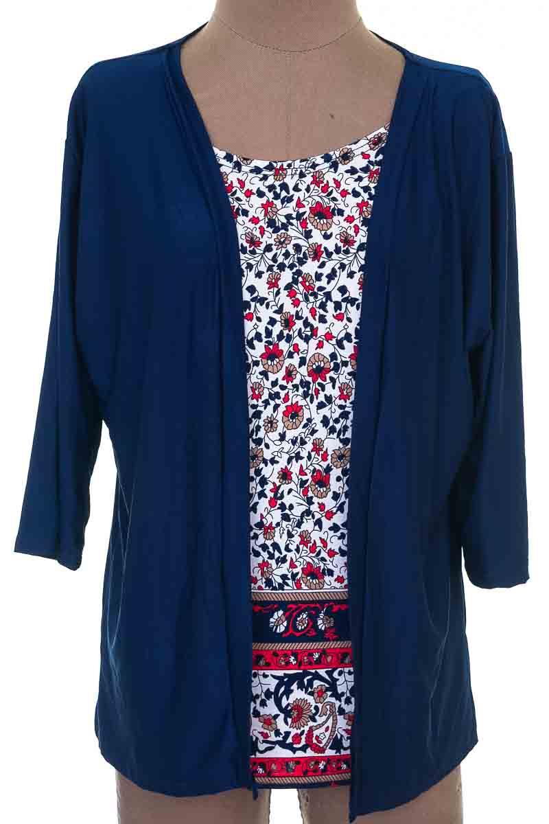 Blusa Casual color Azul - Maxiru
