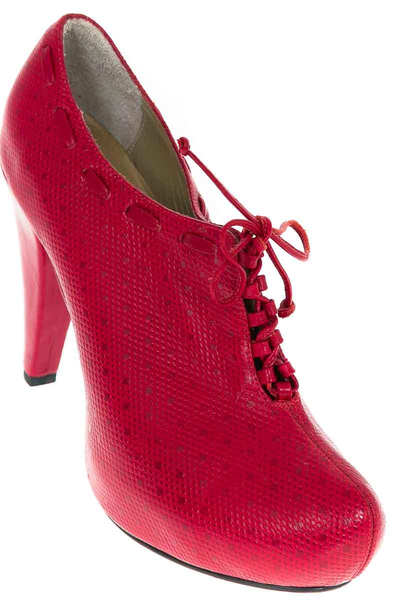 Zapatos Botín color Rojo - Julia Leal
