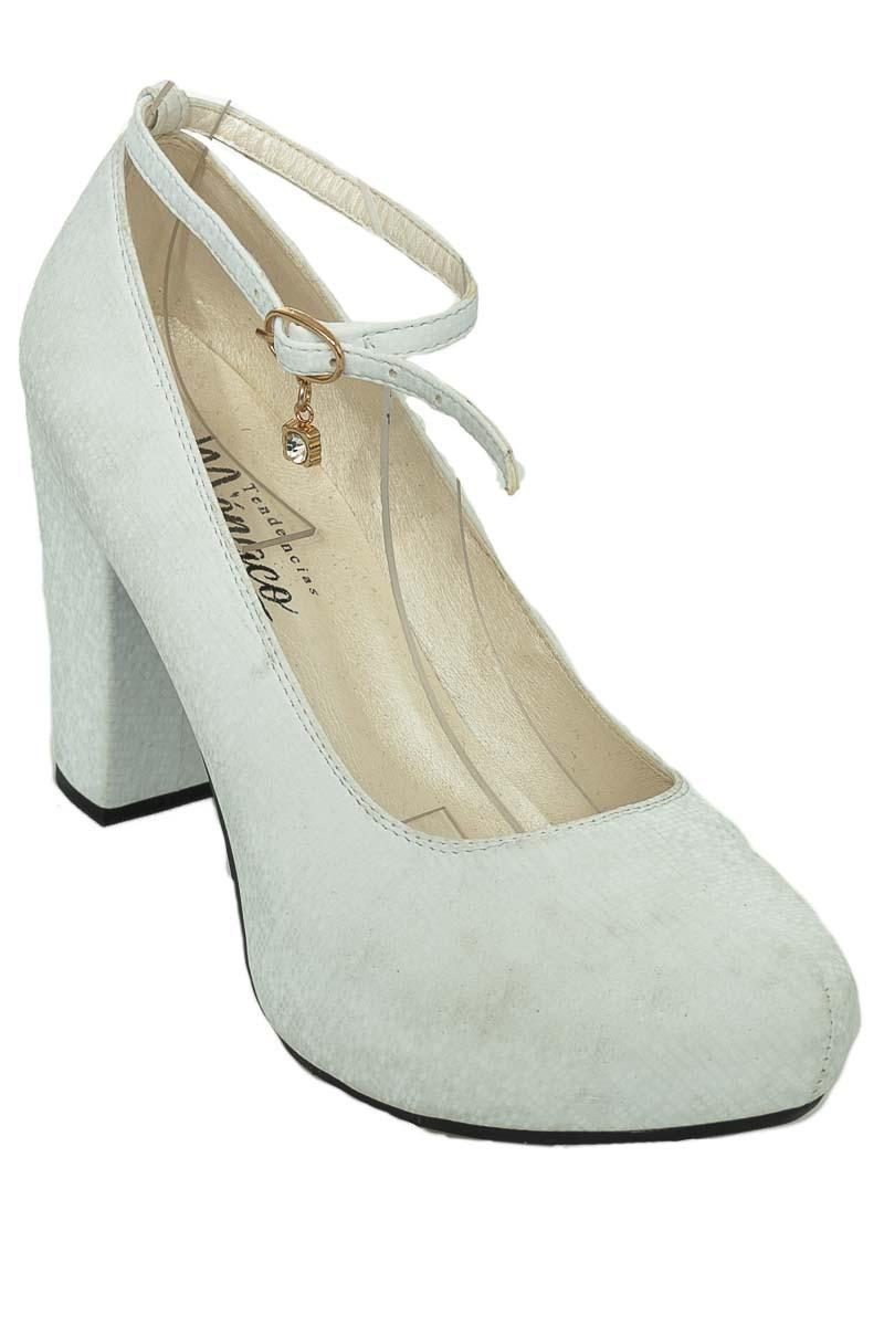 Zapatos Tacón color Blanco - Tendencias Monaco