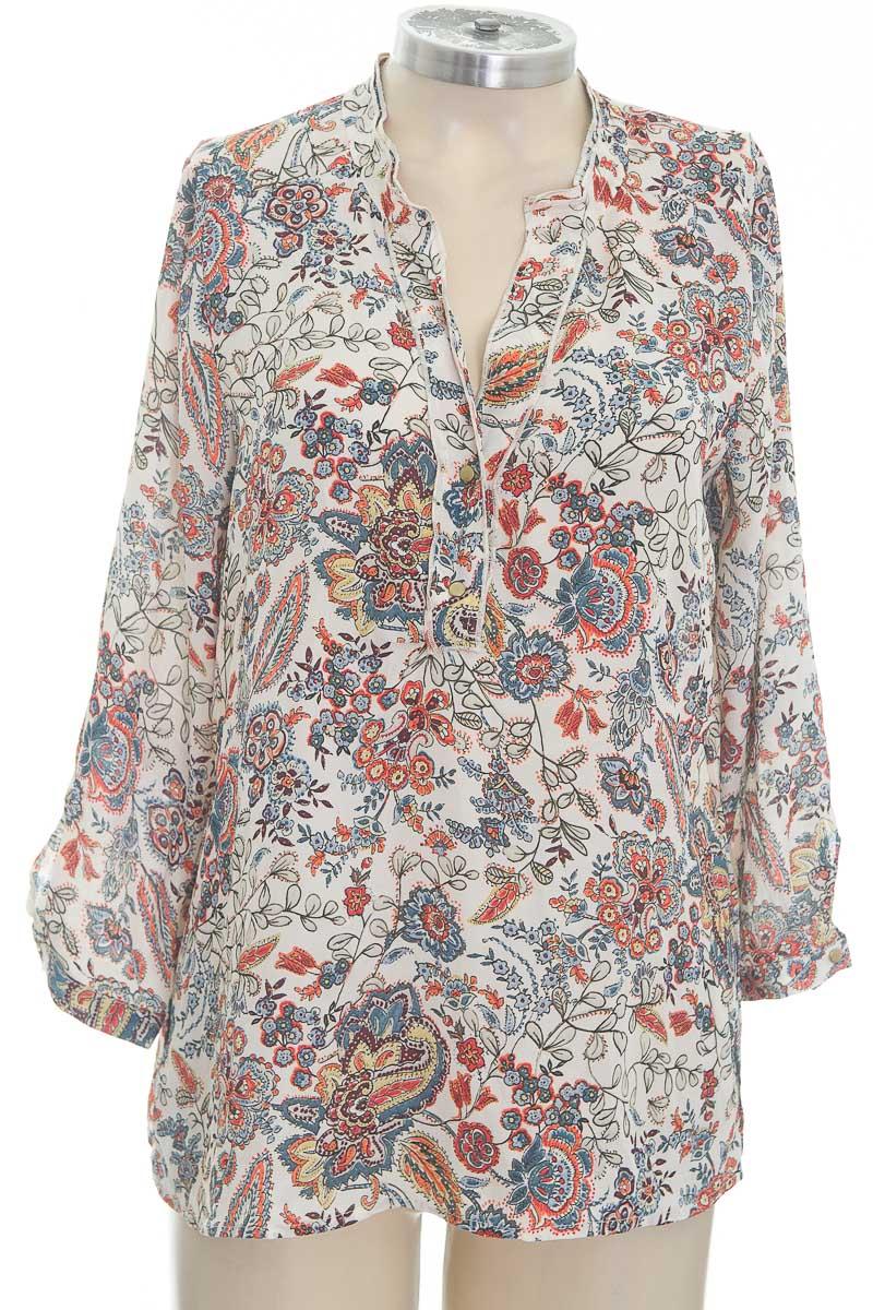 Blusa color Estampado - Zara