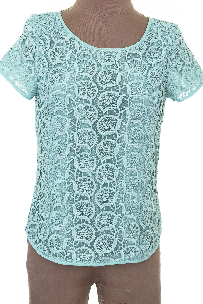 Blusa Casual color Verde - Zara