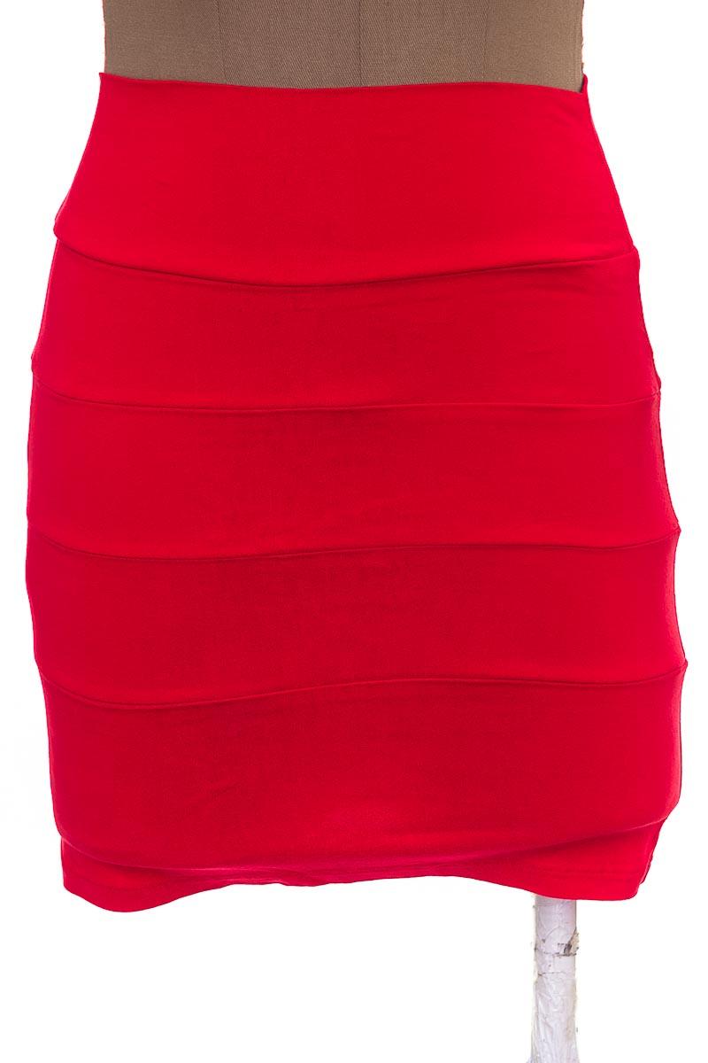 Falda Casual color Rojo - Anturio