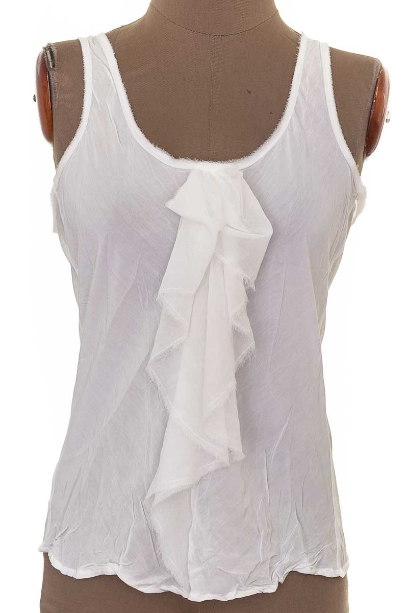 Blusa Casual color Blanco - Zara