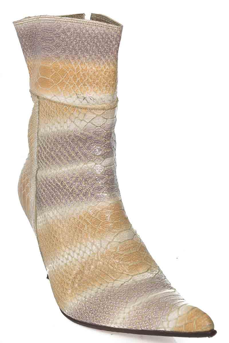 Zapatos Bota color Beige - Cervato