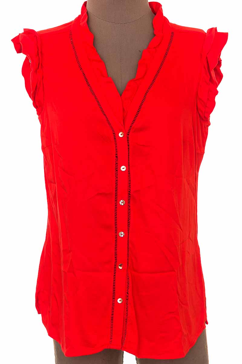 Blusa Casual color Rojo - Closeando