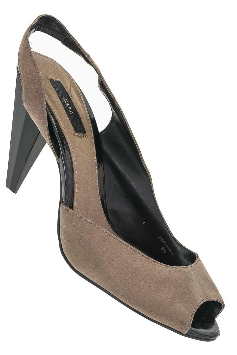 Zapatos Baleta color Café - Zara