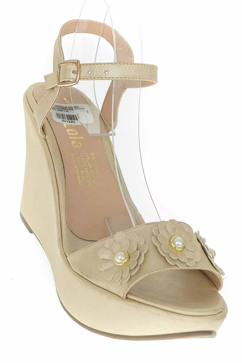 Zapatos Sandalia color Dorado - Vitola