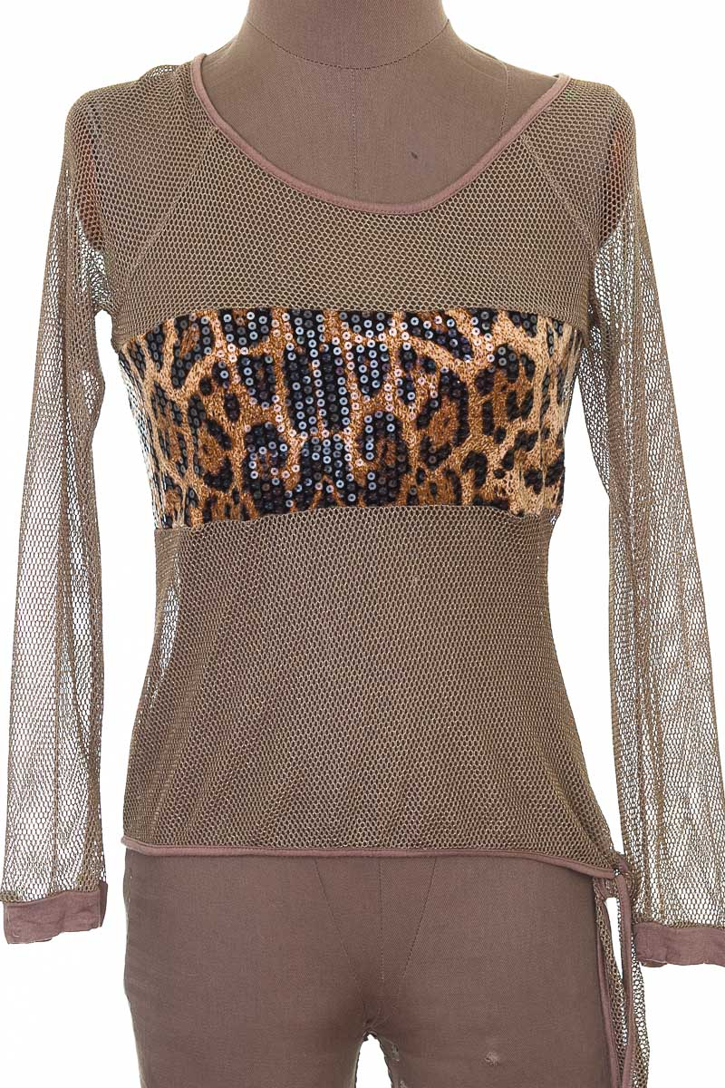 Blusa Casual color Café - Mocha